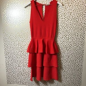 PARKER Red peplum dress SIZE M